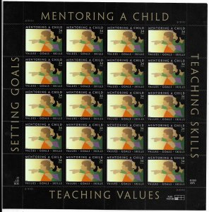 USA 3556 MNH SHEETS TEACHING VALUES
