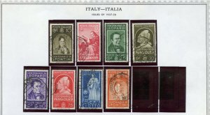 Italy Scott 387-394 Sass.426-33 used in mounts