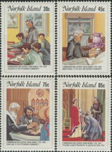 Norfolk Island 1984 SG352-355 George Hunn Nobbs set MNH