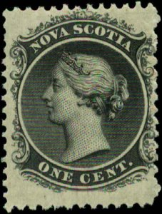 Canada, Nova Scotia  Scott #8 SG #9 Mint Hinged Yellow Paper