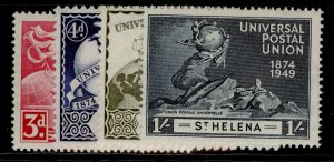 ST. HELENA GVI SG145-148, anniversary of UPU set, M MINT.