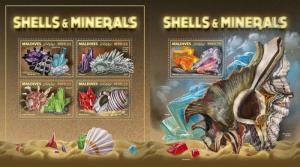 Z08 IMPERF MLD171010ab Maldives 2017 Shells and Minerals MNH ** Postfrisch
