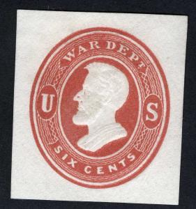 US Sc UO56 Unused 6¢ Cut Square