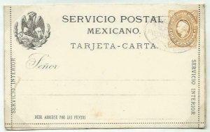 MEXICO 10c lettercard 1886 CTO..................................58709