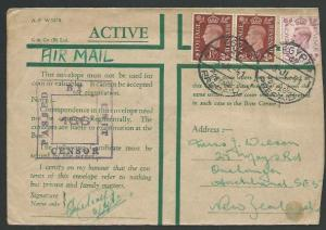 NEW ZEALAND FORCES IN EGYPT 1941 Honour Envelope, censor, airmail..........61551