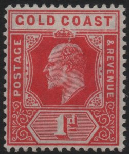 GOLD COAST-1907 1d Red Sg 60 MOUNTED MINT V40444