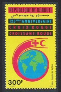 Djibouti 125th Anniversary of Red Cross 1v SG#1017