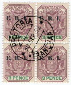 (I.B) Transvaal Postal : ERI Overprint 3d