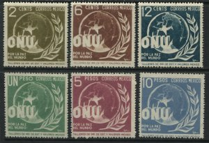 Mexico ONU complete set mint o.g. hinged