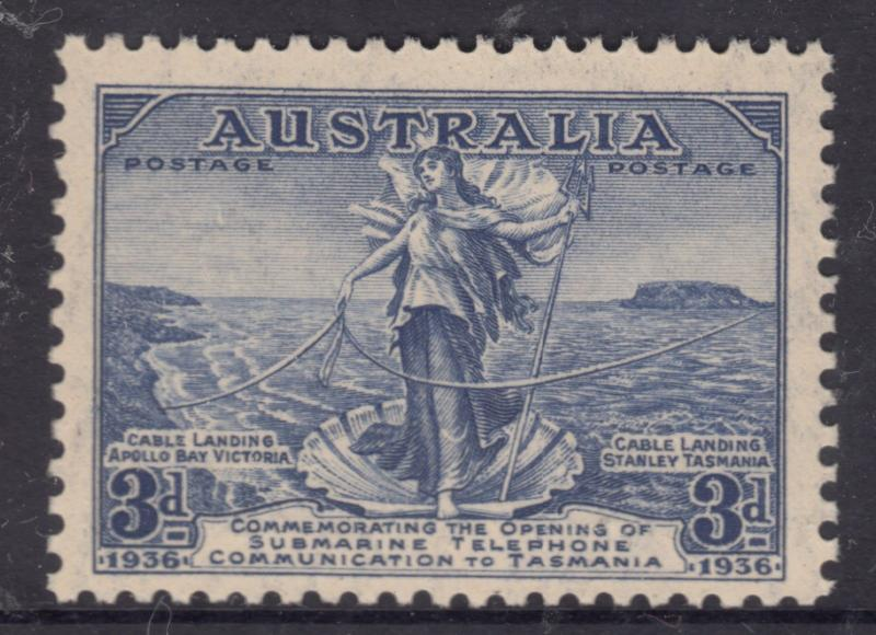 AUSTRALIA 1936 3d Cable Mint Never Hinged