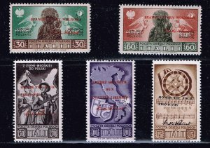 ITALY STAMP Polish Army in Italy 1945 OVER PRINTED MNH SET
