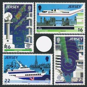 Jersey 452-455,MNH.Michel 435-438. EUROPE CEPT-1988.Air transport,Map.