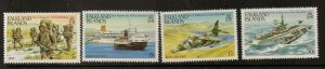 FALKLAND ISLANDS SG454/7 1883 ANN OF LIBERATION MNH