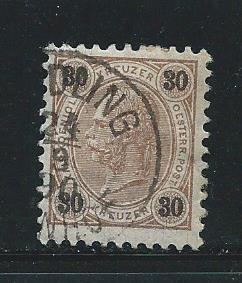 Austria 60 1890-96 30kr Used (x2)
