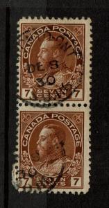 Canada SC# 114, Pair, Used - S2665