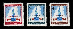 GUATEMALA SCOTT #C185-C187 PRESIDENTIAL SUCCESSION 1953 MNH-OG
