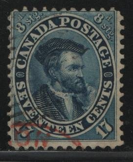 Canada, 19, USED, 1859, Jacques Cartier