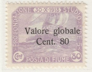 Fiume 1920 Surcharge 80c on 80c Very Fine MNH** Stamp A21P11F4971