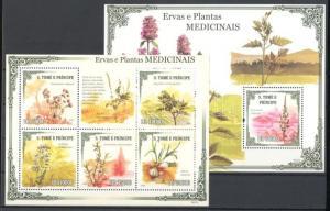 Sao Tomé e Príncipe stamp MNH Medicinal herbs WS90616