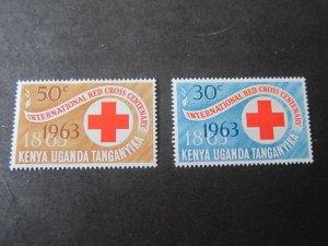 Kenya Uganda Tanganyika 1963 Sc 142-3 set MNH