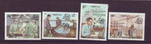 J24391 JLstamps 1990 laos set mhr #986-9 designs