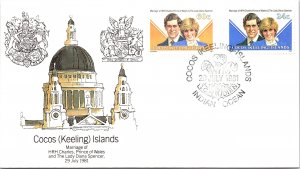 Cocos Islands, Worldwide First Day Cover, Royalty