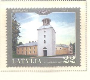 Latvia Sc 678 2007 Krustpils Palace stamp  mint NH