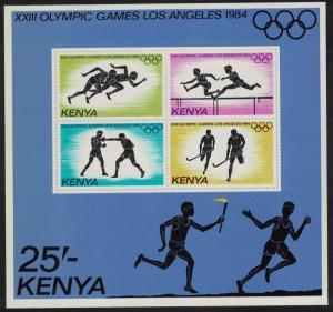 Kenya Olympic Games Los Angeles MS SG#MS316