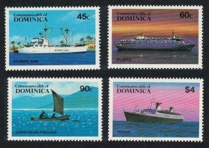 Dominica Shipping 4v 1984 MNH SG#890-893