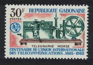 Gabon Morse Telegraph Apparatus Centenary of ITU 1965 MNH SG#234