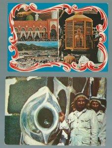 SAUDI ARABIA RARE ISLAM MASJID NABI AND HIJAR ASVAD 02 VINTAGE POSTCARDS MESSAGE