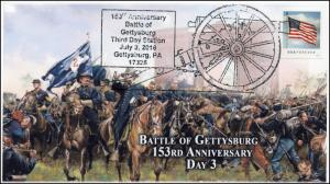 2016, Battle of Gettysburg, 153rd Anniversary,, Day 3, Civil War, 16-343