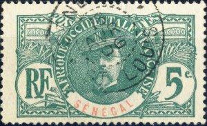 SÉNÉGAL - 1906 - Cachet à Date de St Louis sur 5c Faidherbe Yv.33