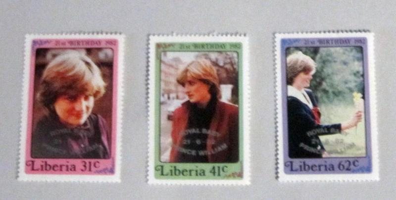 Liberia - 962-64, MNH Set. Ovpt. Royal Baby. SCV - $4.35