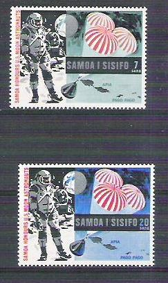 Samoa 1969 Space, US Moon Astronauts, MNH    G.045