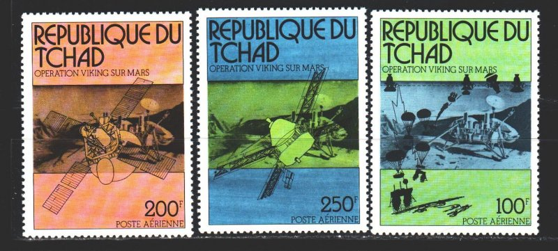 Chad. 1976. 749-51 from the series. Space. MNH.