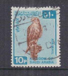SAUDI ARABIA, 1968 Air, Falcon, 10p. Brown & Blue, used.