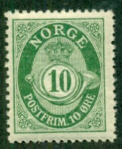 NORWAY #81, Mint Never Hinged, Scott $23.80
