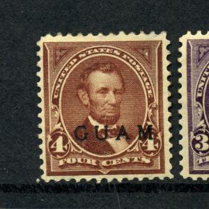 Guam Scott 4 Overprint Mint Stamp w/PF Cert (Stock Guam 4-8)