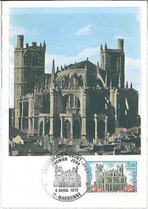 26320 - FRANCE - POSTAL HISTORY - MAXIMUM CARD 1972 - ARCHITECTURE Cathedral