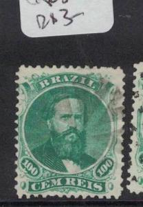 Brazil 1866 100R SC 58 Cork Cancel Item 17 VFU (2dqu)