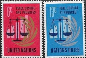United Nations  New York Peace, Justice and Progress SC# 213-214   MNH