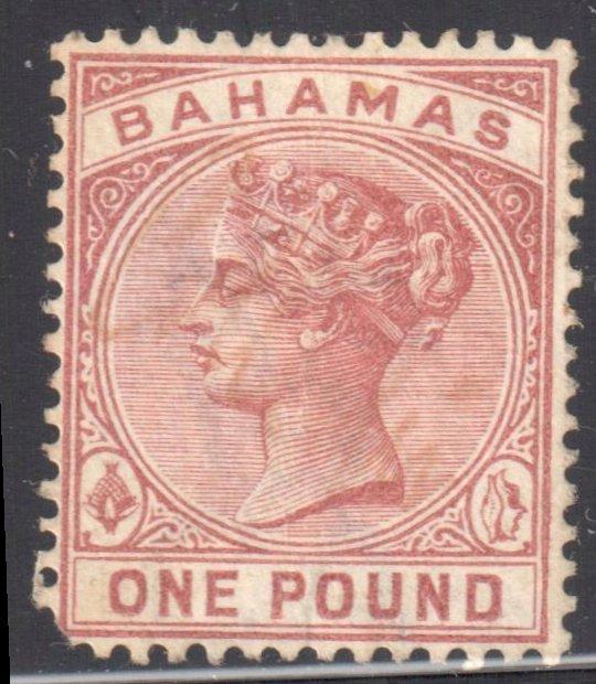 Bahamas #32 Used ( LL Short corner)