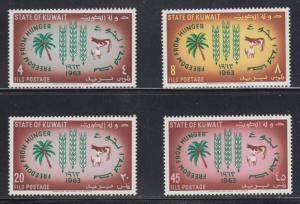 Kuwait    #193-96    mnh   cat $3.75