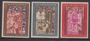Andorra 192-4 Frescoes MNH