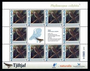 [43462] Netherlands Nederland 2011 Birds Vögel Phylloscopus collybita MNH Sheet
