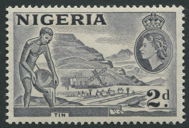 Nigeria -Scott 93 - QEII Definitive Issue -1953 - MLH - Single 2p Stamp