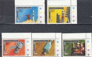 Central Africa Empire, Sc 251-252, C135-C137, MNH, 1976, Rockets