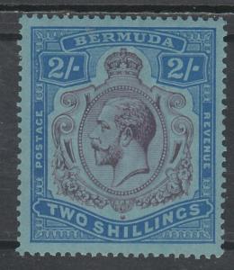 BERMUDA 1924 KGV 2/- MNH ** WMK MULTIPLE SCRIPT CA