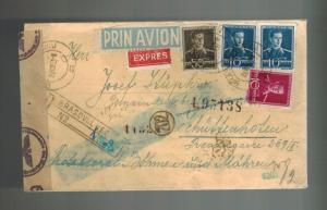 1943 Brasovul Romania Cover to Schuttenhoffen Susice Ghetto BM Judaica